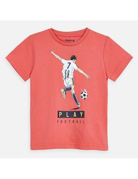 Camiseta Mayoral M/C Play Coral Mini Niño