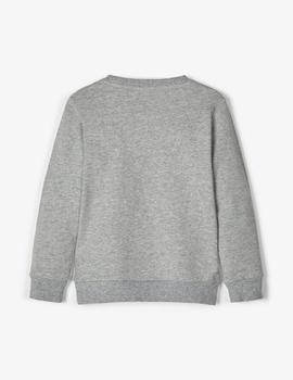 Sudadera Name it Riñonera Gris Mini Niña