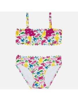 Bikini Estampado Mayoral Flores Mini Niña
