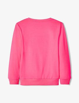 Sudadera Name it #SQUAD Fucsia Mini Unisex