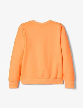 Sudadera Name it  #SQUAD Naranja Mini Unisex