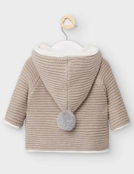 Rebecon Mayoral Tricot Beige Bebe