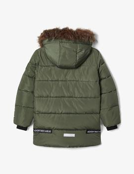 Parka Name it Acolchada Capucha Verde Kids Niño