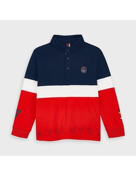 Polo Mayoral Tricolor Marino Mini Niño