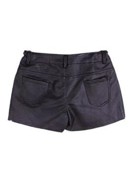 Short Newness Polipiel Negro Kids Niña