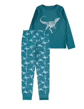 Pijama Name it Real Teal Dino Para Niño