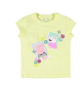 Camiseta Name it Peppa Pig Amarillo Para Niña