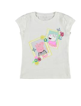 Camiseta Name it Peppa Pig Blanca Para Niña