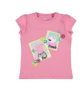 Camiseta Name it Peppa Pig Rosa Para Niña