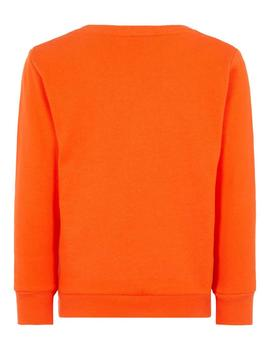 Sudadera Name It Pop Corn Naranja Mini Niño