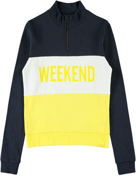 Sudadera Name It Corta 'Weekend' Amarilla Niña