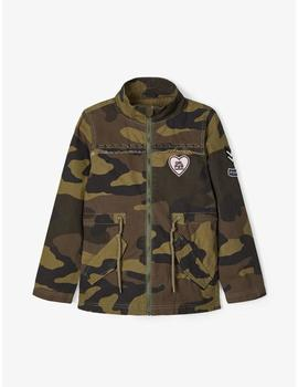 Parka Name it Camuflaje Verde Para Kids Niña
