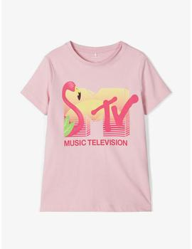 Camiseta Name it M/C MTV Rosa Kids Niña